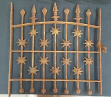 Architectural Salvage Wrought Iron Window Grate Arched Top & Geometric Shapes