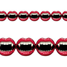 2.4m Halloween Fangtastic Vampire Bite Party Printed Paper Garland Decoration