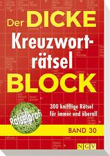 Der dicke Kreuzworträtsel-Block. Bd.30