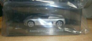 Panini Supercars Collection Partwork #56 Diecast 1:43 Model Koenigsegg CC85 2002