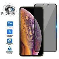 Full Coverage Anti-Spy Privacy Glass Screen Protector For iPhone 11 X XR Xs Max