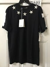 Givenchy Black & White Stars T-Shirt Size M