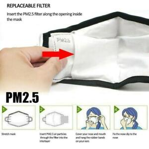 PM2.5 FILTER for Washable reusable cotton face mask Activated Carbon