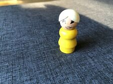 Fisher Price LITTLE PEOPLE VINTAGE WOODEN GRANDMA GRANDMOTHER TEACHER WOOD