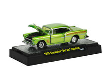 1955 Chevrolet Bel Air Hardtop verde, M2 Machines Salvaje Cards (06), 1:64