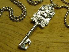 Resident Evil Biohazard Umbrella Silver Key Necklace