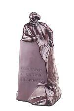 German Philosopher / Socialist Karl Marx Stone Statue / Bust 5.9'' brown