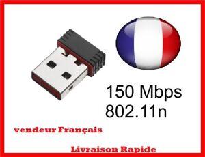 MINI CLE WIFI USB Adaptateur Sans Fil Dongle Réseau Wireless 150Mbps 802.11n/g/