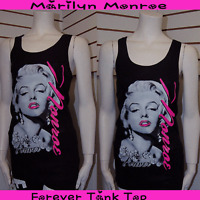 """Plus Size Marilyn Monroe Forever RacerBack Tank Top w/ Hot Pink Letter 2XL 36""""~"""