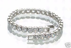 "Steel by Design Crystal Tennis Bracelet 7-1/4"" L"