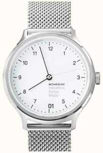 Mondaine Helvetica  Watch MH1.R1210.SM Analogue Stainless Steel Silver 33MM