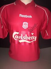 Signed Retro Liverpool Shirt By Emile Heskey