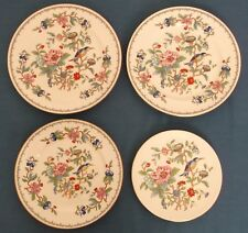 "AYNSLEY PEMBROKE PLATES FOUR BONE CHINA 9"" 8"" 7"" INCHES MADE IN ENGLAND UNUSED"