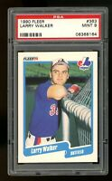 1990 Fleer #363 Larry Walker Montreal Expos PSA 9 MINT HOF RC ROOKIE Card!