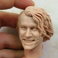 Batman Joker Evil Smile Unpainted Head Sculpt Fit 1/6 Scale Action Figure DIY