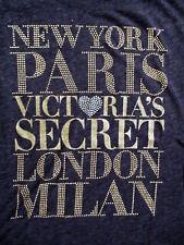 VICTORIA'S SECRET T SHIRT Loose Fit New York Paris London Milan Softest Rayon XS