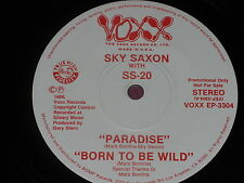 """Sky Saxon & SS-20:  Paradise  rare 1986 PROMO  7""""   Near Mint"""