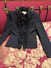 Fenn Wright Manson Silk/frill Trim Jacket Size 10 Excellent Condition