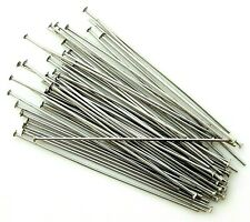 50 Stainless Steel Silver 2 Inch 21 Gauge Straight Bead Pin Findings Headpins