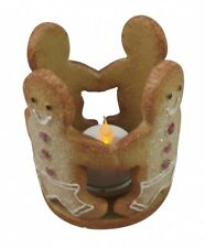 Gisela Graham Christmas Gingerbread Man T-Light Holder - Table Candle Decoration