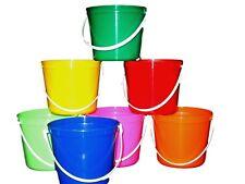 6 80 Ounce Plastic Buckets Choice Of Mix Colors Mfg Usa No Bpa Lead Free