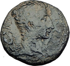 AUGUSTUS 25BC Asian Possibly Ephesus Authentic Ancient Roman Coin Wreath i65103
