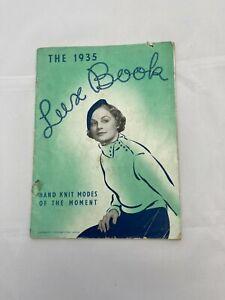 Retro vintage THE LUX BOOK 1935 knitting patterns golf socks, pantees, cardigan