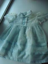 Puppenkleid super süßes Puppenkleidchen groß  pastell blau Spitzen antik Shabby