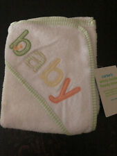 CARTER'S Baby Boy/Girl- Hooded Terry Towel- White with Peekaboo Duck- NEW