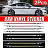 2x Car Racing Body Side Sticker Graphics Strip Pinstripe Vinyl Decals Universal