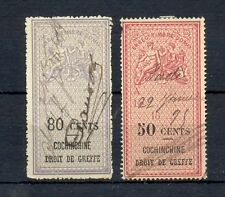 FRANCE COLONY -INDOCHINE - 2 x REVENUE ST. --FINE