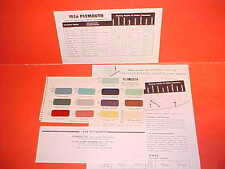 1956 PLYMOUTH BELVEDERE CONVERTIBLE FURY PLAZA SAVOY SUBURBAN PAINT CHIPS SW