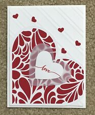 Handmade Fancy Floral Heart Card, Valentine's Day, Love, Romance