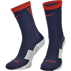 Nike Unisex Squad Cushioned Crew Soccer Socks Navy Red Gray SX5345-421 Sz L 8-12