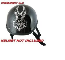 #1104 eagle Rhinestone Helmets Bling Sticker 3M peel stick helmet patches H&D