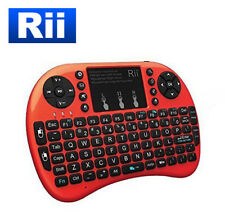 Rii i8+ Wireless Mini Keyboard Mouse Touchpad Backlite for PC Smart TV (RED)