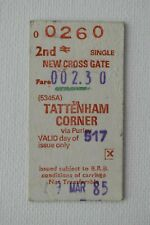 Railway Ticket NEW CROSS GATE to TATTENHAM CORNER 1985 No. 0260