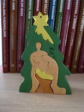 Presepio in legno, fatto e dipinto a mano componibile - Handmade native scene