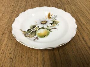 Vintage Duchess Flower & Fruit Pin / Butter Dish - 12cm