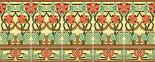 "Nouveau Seasons Art Tile Mural Deco Backsplash Back Splash Ceramic Tiles 30"""