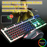 Mechanical Wired Gaming Keyboard And Mouse Set LED Backlight Mouse For Laptop PC