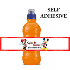 MICKEY MINNIE MOUSE PERSONALISED FRUIT SHOOT DRINK BOTTLE LABELS WRAPPERS  X7