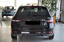 Imitating Exhaust silver for Skoda Superb MK3 III 3V3 Sedan + 3V5 Combi (US