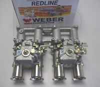 Toyota 2TC dual 40 DCOE WEBER side draft kit - new - w/manifold, linkage,& carbs