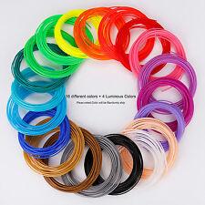 20pcs 1.75mm Printing Filament Pla Modeling For 3D Printer Pen Drawing Colorful