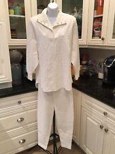 Vintage 80s 90s Meet Me In Miami White Terrycloth 2 Piece Set Resort Wear
