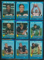 Lot of 45 1971 through 1985 Atlanta Falcons cards