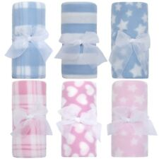 Newborn Baby Soft Fleece Blanket Gift Boy Girls Cot Crib Blanket Comforter New