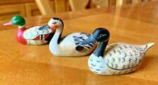 Vtg Mallard Pencil Sharpeners Duck Decoy Set of 3 Hunter Waterfowl Gift Oddity