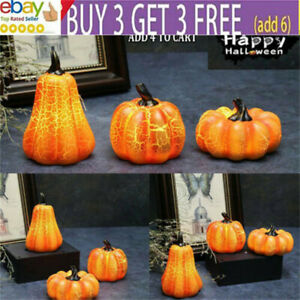 Halloween LED Pumpkin Lantern Light Up Candle Lamp Party Prop Outdoor Decor NL